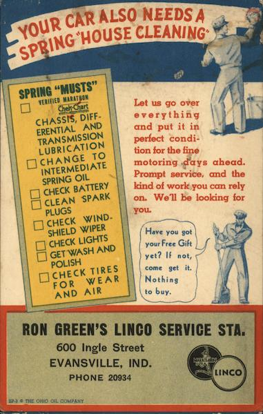 Ron Green's Linco Service Station Evansville Indiana