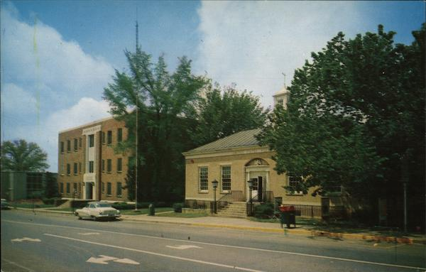 Post Office, County Building, and First National Bank Newton North Carolina