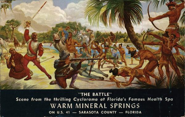 The Battle Cyclorama at Warm Mineral Springs North Port Florida