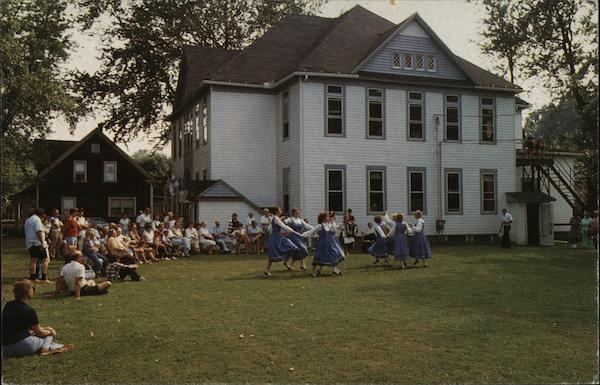 Conneaut Community Center - Group Outdoors Watching Dancers Ohio