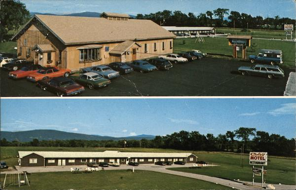 Sugar House Restaurant And Coles Motel Middlebury Vt Postcard