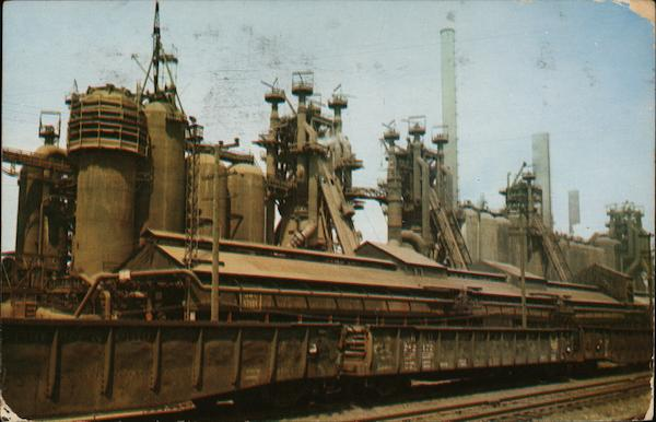 Blast Furnace of the Jones and Laughlin Steel Co. Pittsburgh Pennsylvania