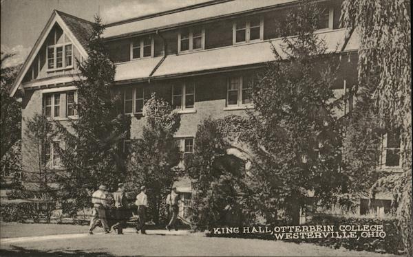 Otterbein college king hall westerville oh postcard for T shirt printing westerville ohio