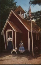 Mary and her Lamb at the Little Red Schoolhouse - Story Land