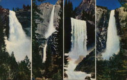 Nevada, Yosemite, Vernal and Bridal Veil Falls