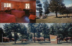 The Parker House Motel & Restaurant Postcard