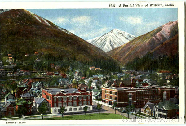 A Partial View Of Wallace Idaho