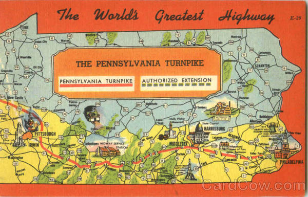 The World's Greatest Highway Turnpike Pennsylvania
