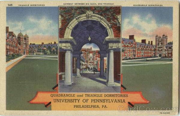 Quadrangle And Triangle Dormitory , University Of Pennsylvania Philadelphia