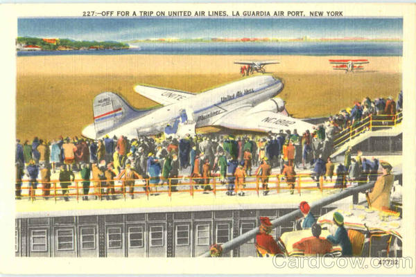 Off For A Trip On United Air Lines La Guardia New Jersey