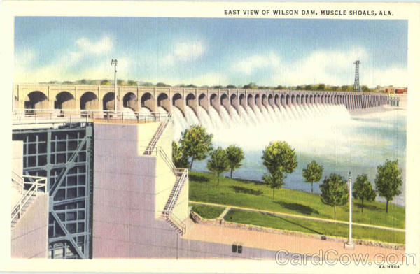 East View Of Wilson Dam Muscle Shoals Alabama