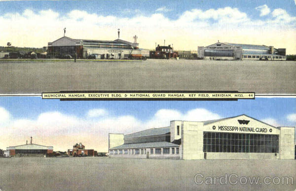 Municipal Hangar Executive Bldg.& National Guard Hangar, Key Field Meridian Mississippi