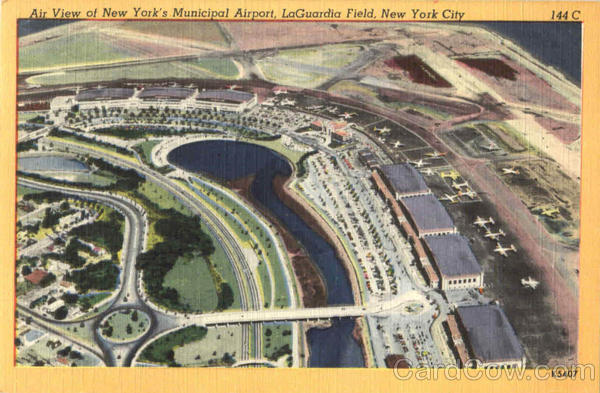 Air View Of New York's Municipal Airport, LaGuardia Field