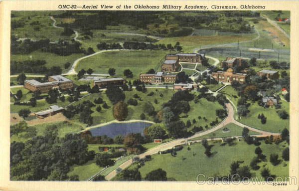Aerial View Of The Oklahoma Military Academy Claremore