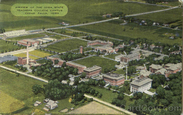 Airview Of The Iowa State Teachers College Campus Cedar Falls