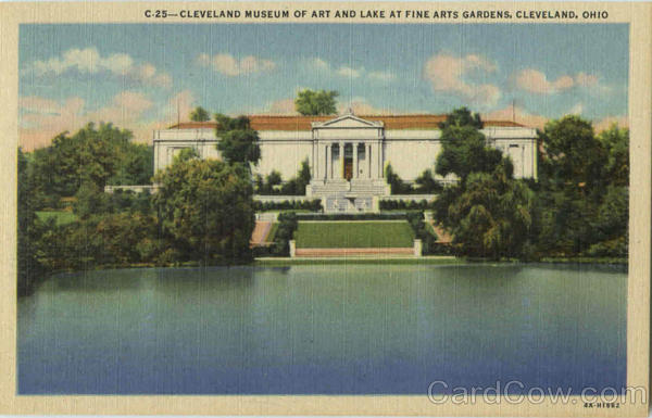 Cleveland Museum Of Art And Lake At Fine Arts Gardens Ohio