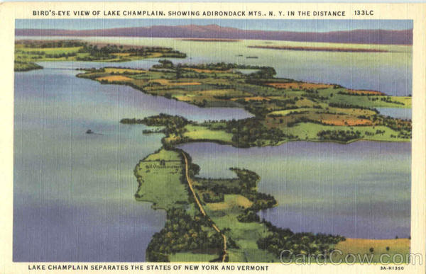 Bird's Eye View Of Lake Champlain Adirondacks New York