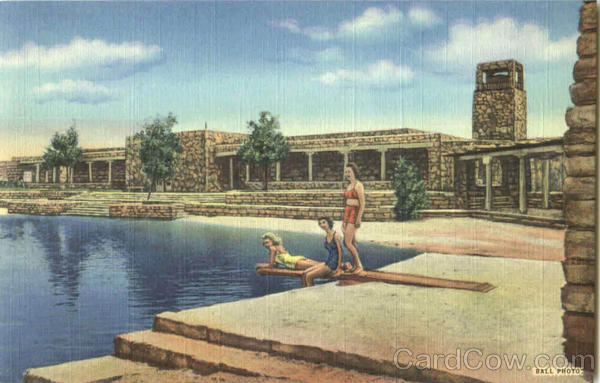 Bath House And Swimming Pool, Bottomless Lakes State Park Roswell New Mexico