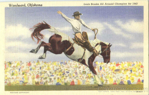 Louis Brooks All Around Champion For 1943 Woodward Oklahoma