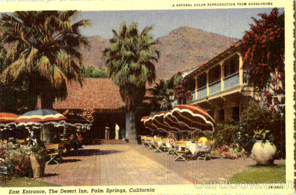 East Entrance The Desert Inn Palm Springs California