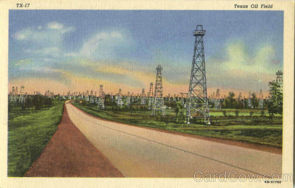 Texas Oil Field Oil Wells