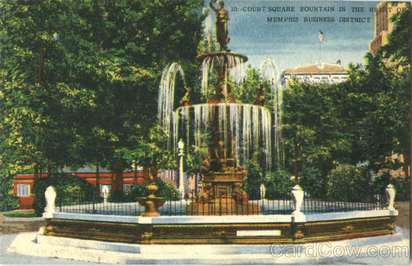 Court Square Fountain Memphis Tennessee