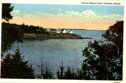 Curtis Island Light Postcard