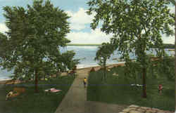 View Of Cayuga Lake And Bathing Beach From Pavilion