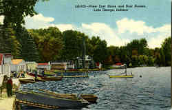 View Of East Shore And Boat Houses, Lake George