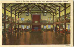 Interior Of One Of The Fine Service Clubs, Camp Breckinridge