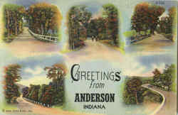 Greetings From Anderson Postcard