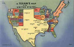 A Texan's Map Of The United States