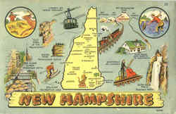 Tourist Map of New Hampshire