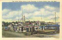 Party Fishing Boats At Their Moorings Postcard