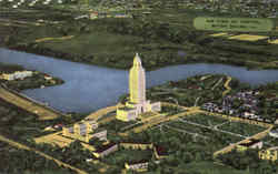 Air View Of Capitol Baton Rouge