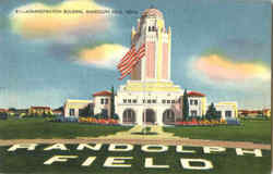 Administration Building Municipal Airport, Randolph Field Postcard