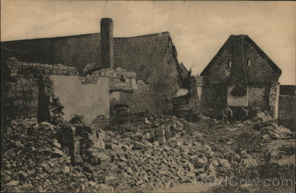 Bombed Houses France World War I