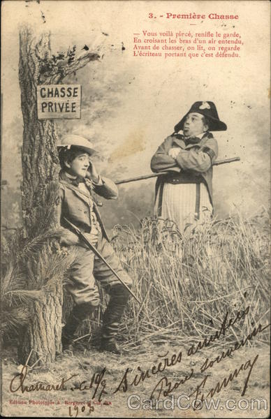 Premiere Chasse (First Hunt) France Military