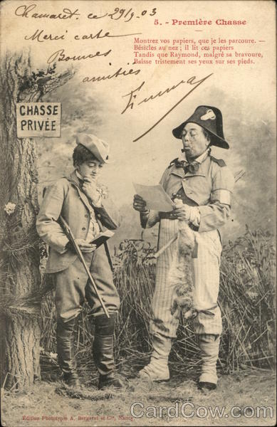 Premiere Chasse (First Hunt) France Military Interesting Cancels