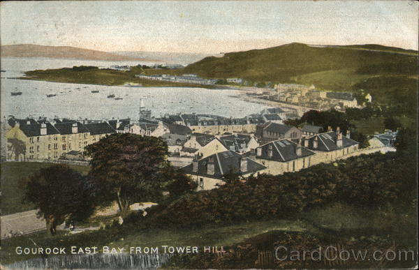 Gourock East from Tower Hill Scotland