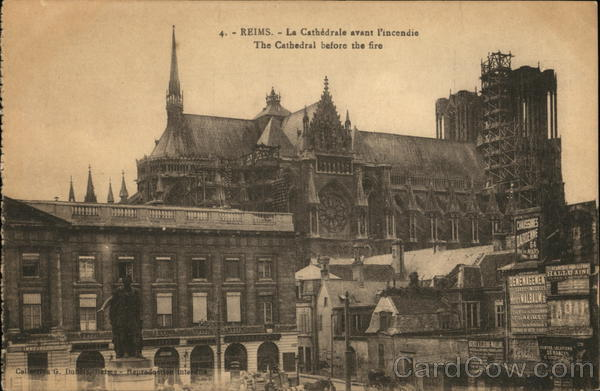 The Cathedral before the Fire Reims France