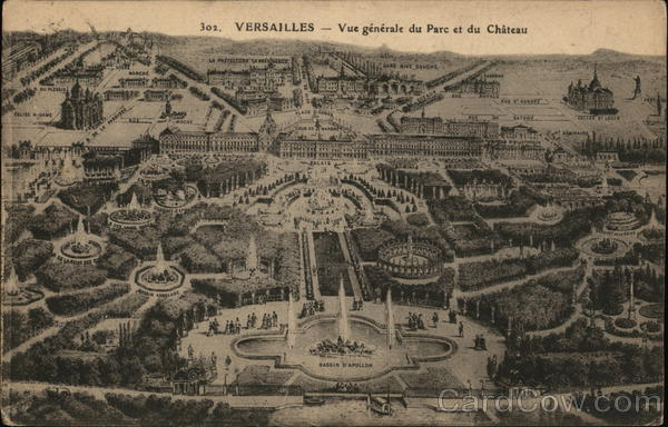 General VIew of Park and Chateau Versailles France
