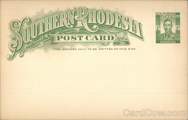 Southern Rhodesia Postal Card Zimbabwe Africa Postal Cards
