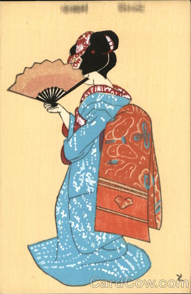 Japanese Lady with Fan