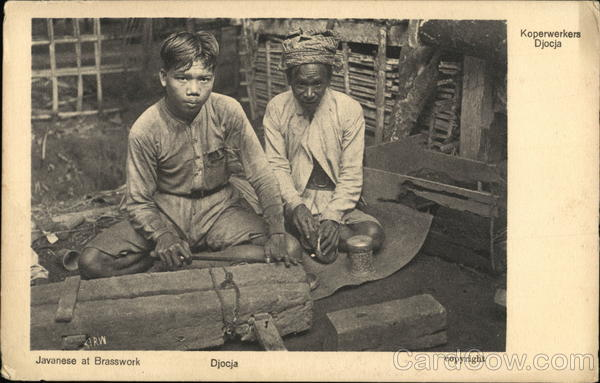 Javanese at Brasswork - Djocja Indonesia Southeast Asia