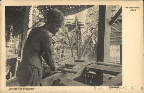 Javanese at Brasswork Indonesia Southeast Asia