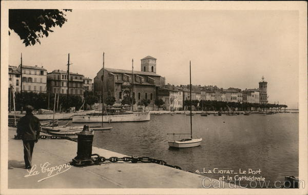 Port and Cathedral La Ciotat FRance