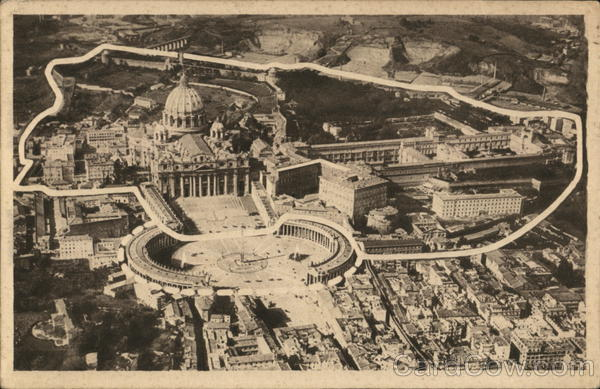 Aerial View of Vatican City Rome Italy