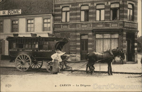 Horse Drawn Bus Carvin France