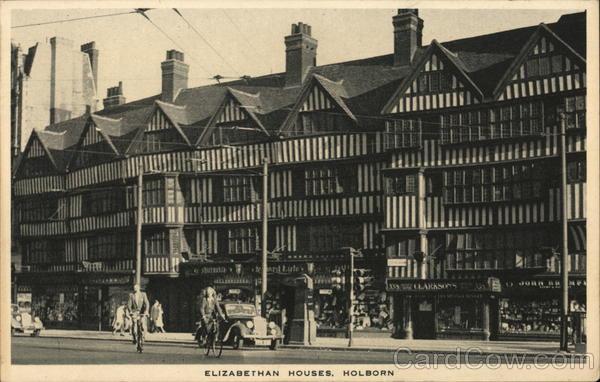 Elizabethan Houses, Holborn London England